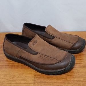Keen Loafers Dillon Brown Leather Casual Shoes